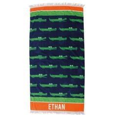 Personalised Beach Towel - Croc