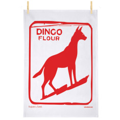 Dingo dog tea towel