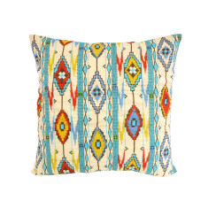 Ikat Design Cotton Cushion