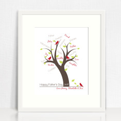 Father's day personalised tree print
