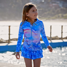 Unicorn Girls' Long Sleeve Rash Top