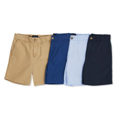 Boys Cotton Drill Khaki Shorts