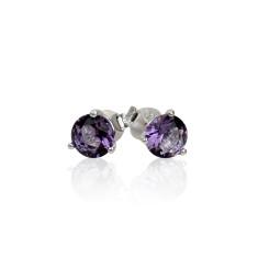 February birthstone sterling silver stud earrings