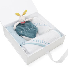 Personalised Embroidered Baby Blanket Gift Set