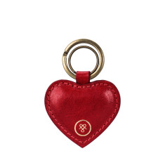 The Mimi Heart Shaped Key Ring in Red