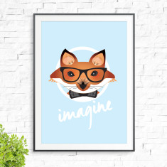 Friendly fox print (various colours)