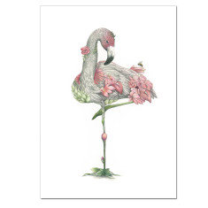 Flamingo Pink Flowers print