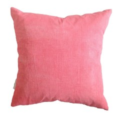 Flamingo pink printed linen cushion