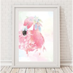 Whimsical flamingo print