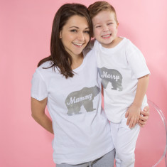 Personalised Family Polar Bear Mum And Me Pyjamas (Set Of Two)