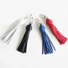 Leather tassel keyring (various colours)