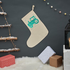 Personalised Christmas Tractor Stocking