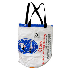 White stork Vietnamese beach bag