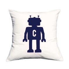 Robot personalised cushion cover (various colours)