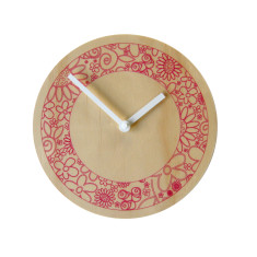 Objectify floral ring wall clock