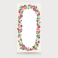 Floral wreath magnetic shopping list