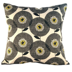 Flowerfields black cushion