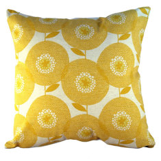 Flowerfields golden cushion