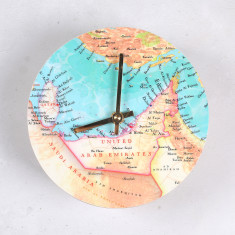 Map clock - you choose the location