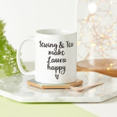 Crafts And Tea Make Me Happy Mug