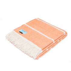 Peach Melba Stripe Throw