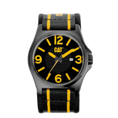 CAT DP series watch in black & yellow