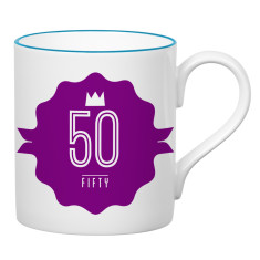 Fifty birthday mug