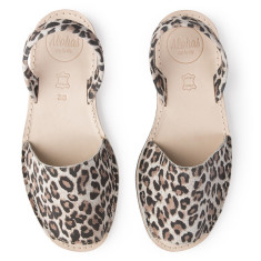 Alohas Leopard Print Suede Sandal