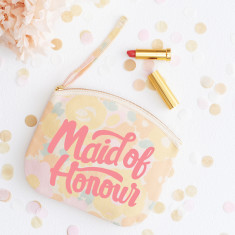 Maid Of Honour Floral Canvas Pouch