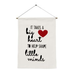 It takes a big heart handmade wall banner