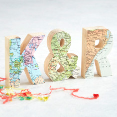 Set of 3 personalised map location letters