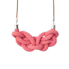 Paris knot necklace in tea rose