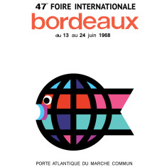 Foire internationale de Bordeaux 1968 poster