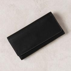 Foldover wallet x-large in black