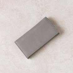 Foldover wallet in grey