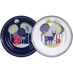 Folklore enamel plates (set of 2)