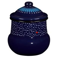Folklore enamel sugar pot