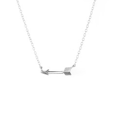 Follow your heart sterling silver arrow necklace