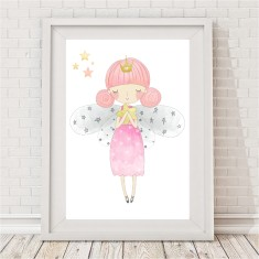 Sleepy Fairy Print