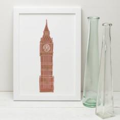 Illustrated Print of Big Ben