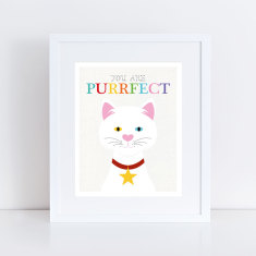 you are purrfect cat art print