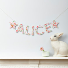 Personalised Liberty letter garland