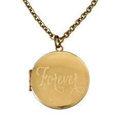 Forever... engraved vintage locket