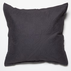 Four Seasons charcoal European pillowcase