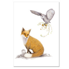 The fox and the owl print