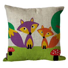 Mr and Mrs fox cushion cover