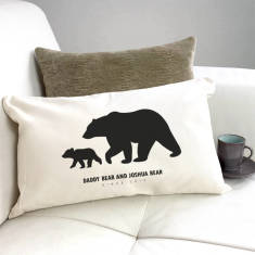 Personalised Daddy And Baby Bear Silhouette Cushion