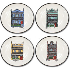 Inner City collection canapé plates (set of 4)