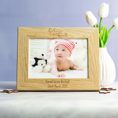 Personalised New Baby Photo Frame Gift