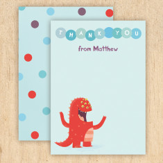 Personalised monster thank you cards (set of 8)